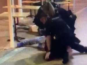 Shock video: Coast cops pepper spray, knee diner on ground