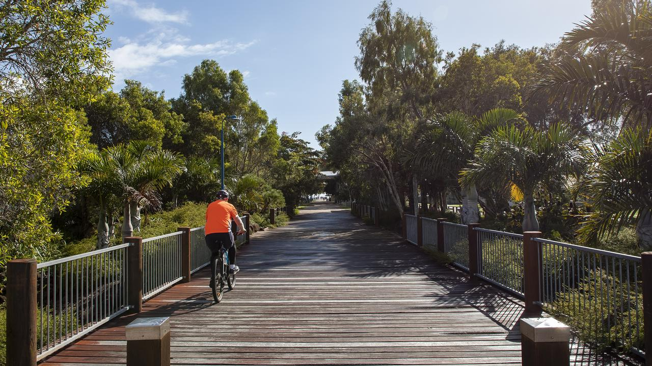 Deteriorating timber boards on the Stevenson-Mathison Footbridge within Pier Park at Urangan will be replaced with recycled wood plastic composite decking.