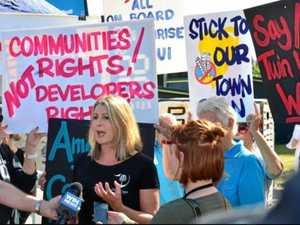 Coast protest a 'fake traffic stunt', developer claims