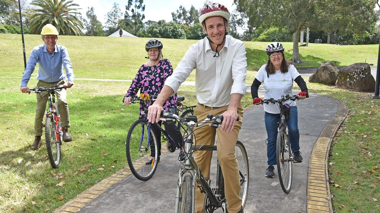RIDE ON: Lismore City council mayor Isaac Smith launched the local initiative of the Biketober Business Challenge.