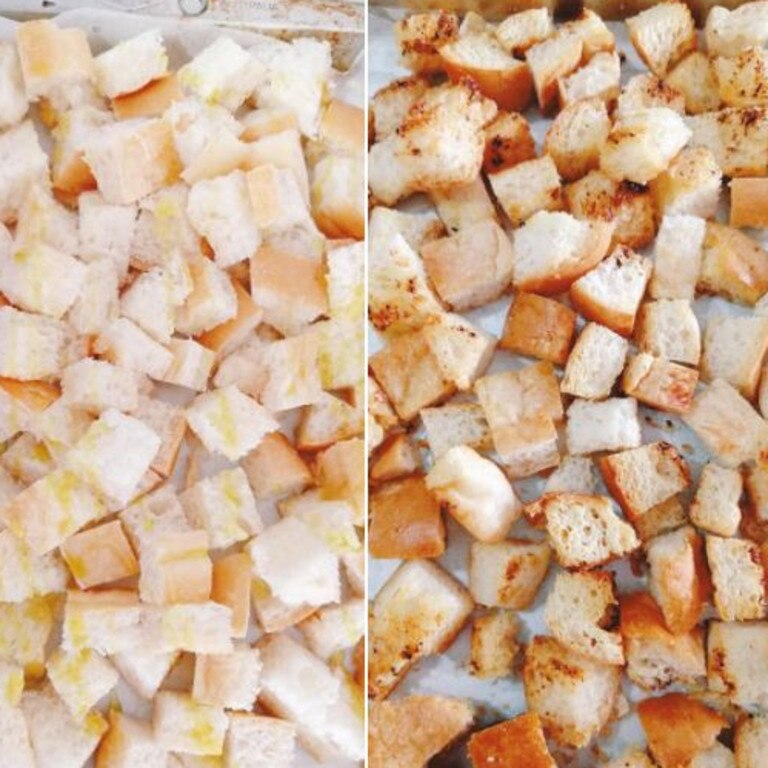 And how to make croutons using the dip. Picture: Facebook/ AldiMumsAustralia