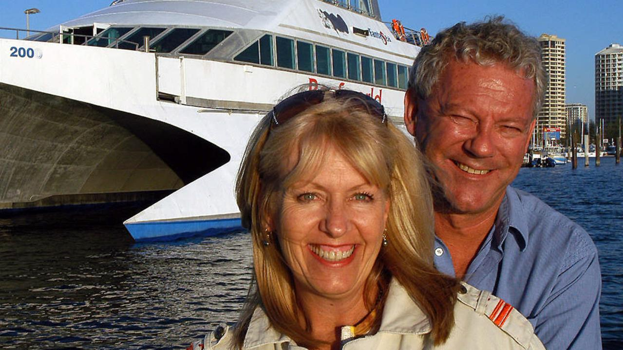 Tourism identities Bruce and Margaret Nicholls once ferried holidaymakers and corporate partygoers on a luxury yacht to their resort. Now it's all crumbling.