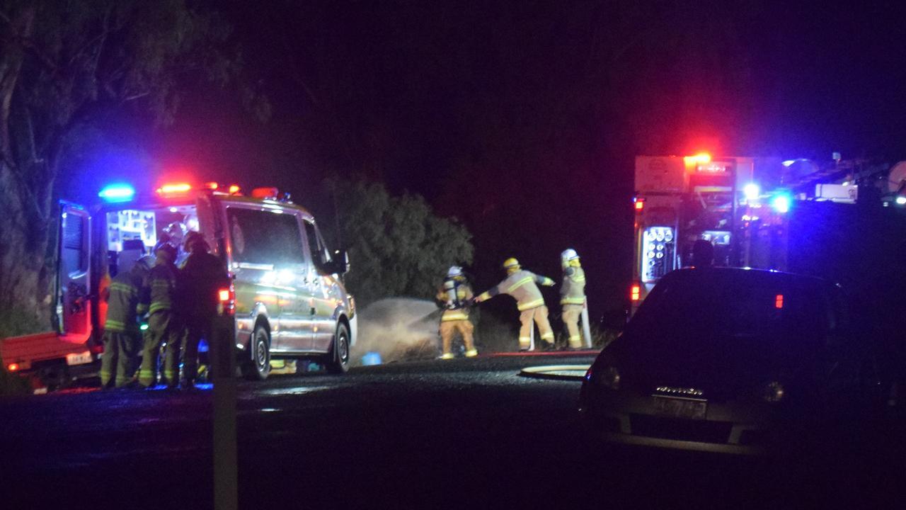 ON SCENE: Emergency crews responded to a car crash on Chinchilla Tara Rd at 5.50pm.