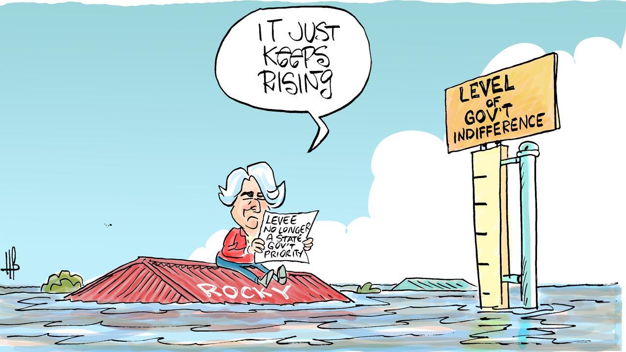 Harry's view on the Rockhampton Flood Levee.