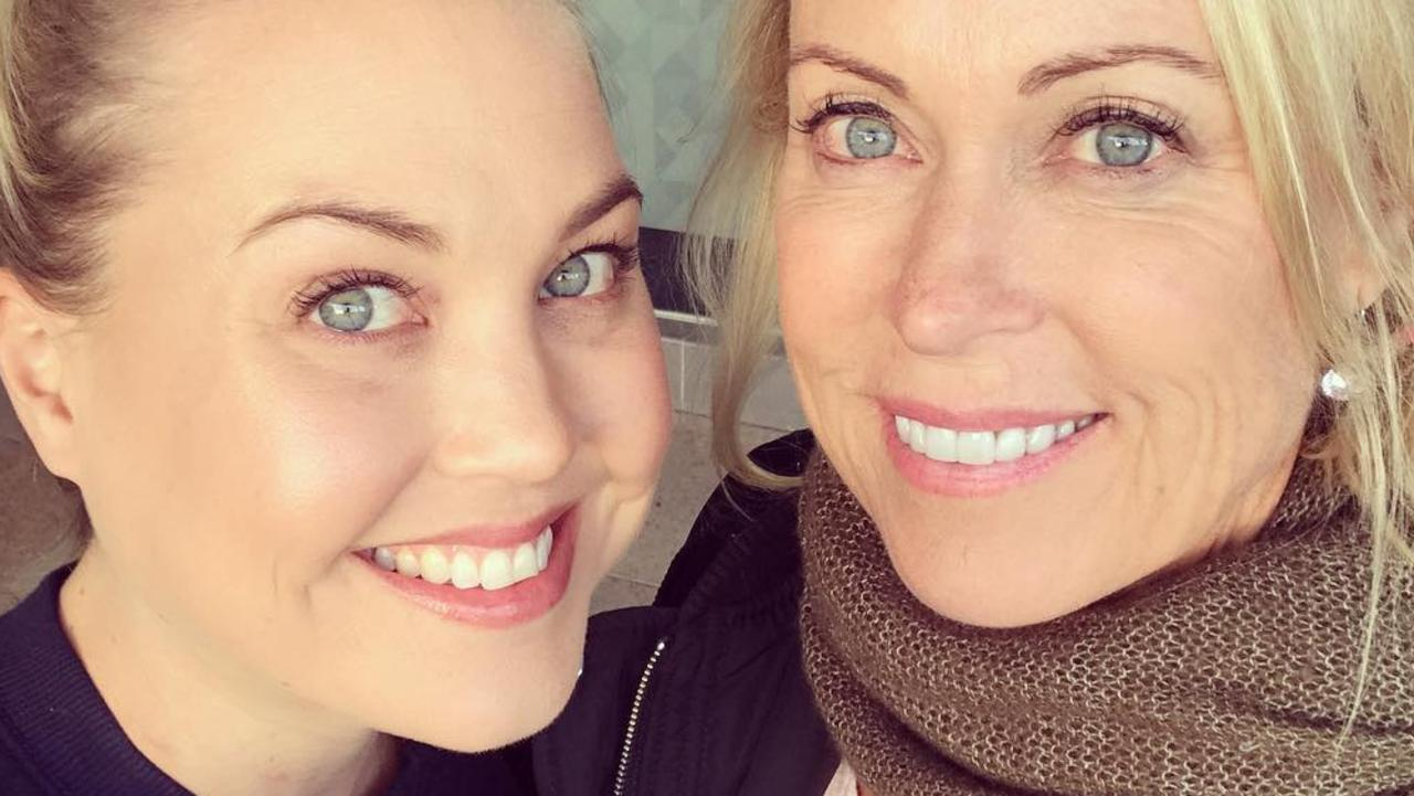 Jaimi Kenny, pictured with her mum Lisa Curry, died from health issues on Monday. Picture: Instagram
