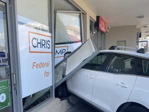 Woman crashes car into MPs office