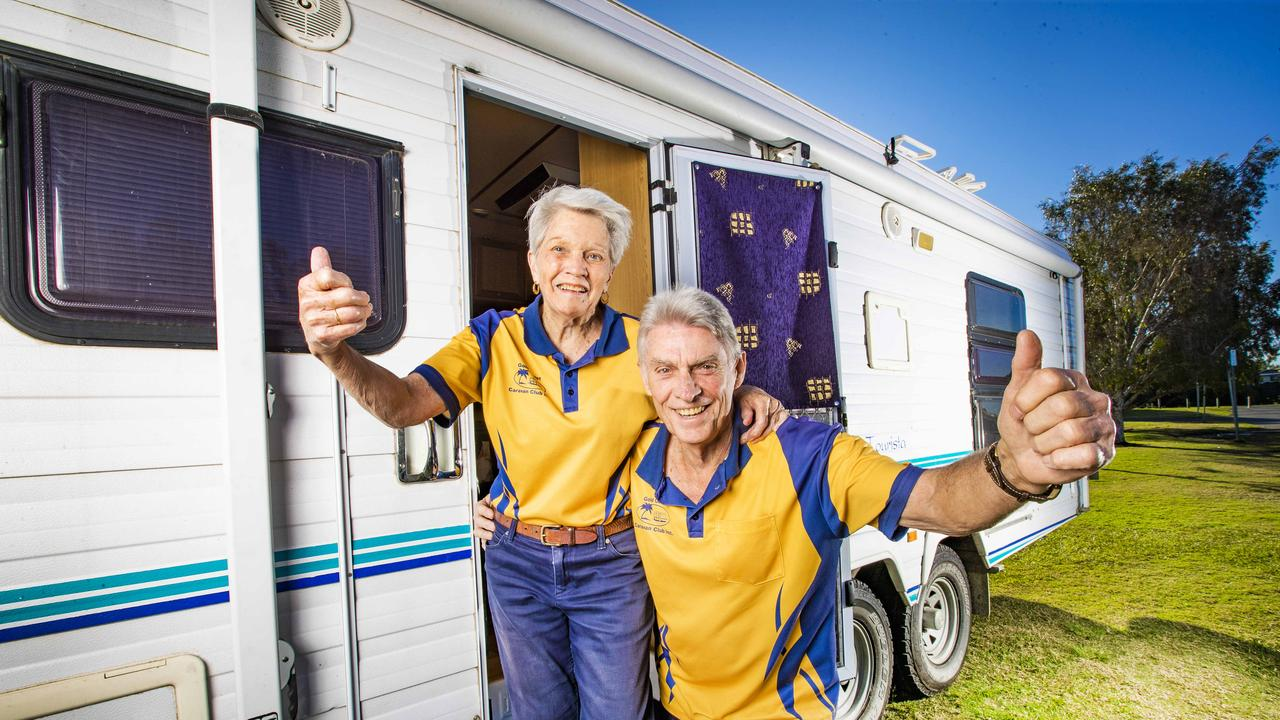 Peter Kendal, 79, and his wife Paula can't wait to get back in the caravan. Picture: NIGEL HALLETT