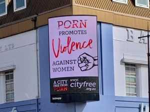 Anti-porn billboards go up at busy CBD intersection