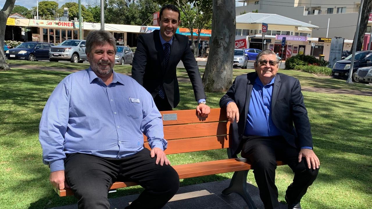 LNP candidate for Hervey Bay Steve Coleman with Shadow Tourism Minister David Crisafulli and retiring member for Hervey Bay Ted Sorensen.