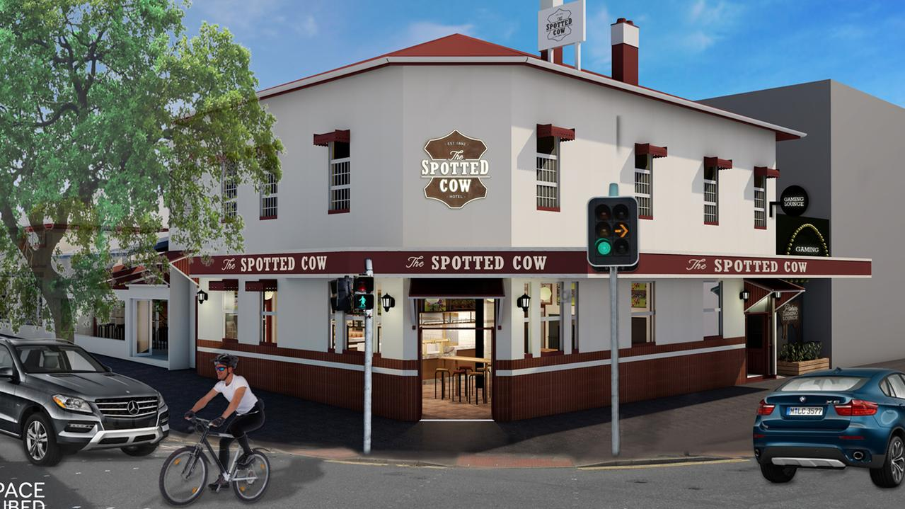 The Spotted Cow's new look.