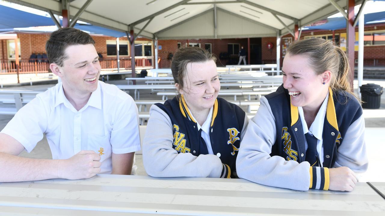 CVAS year 12 students Dylan Freeman, Tara Klievens and Jessica McGrath