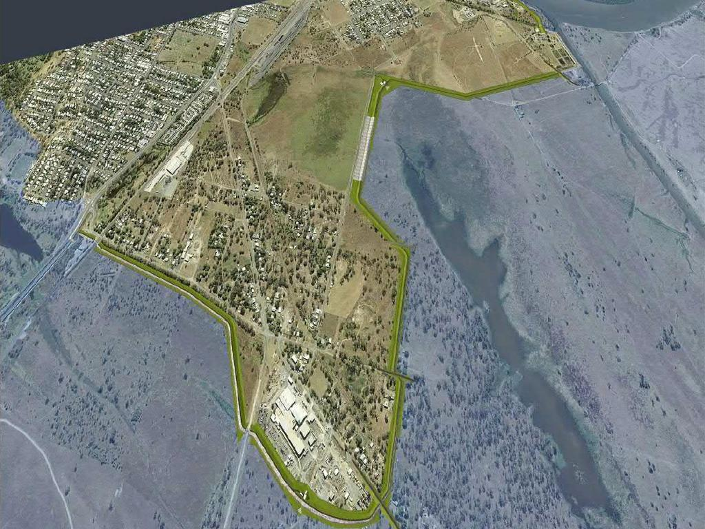 FLOOD PROTECTION: View of conceptual design of the proposed South Rockhampton Flood Levee.