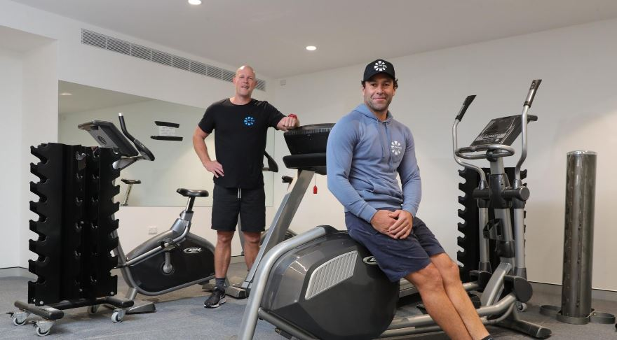 Former Gold Coast Suns assistant coaches Matt Kennedy and Dean Solomon are starting a new gym over the border at Kingscliff called