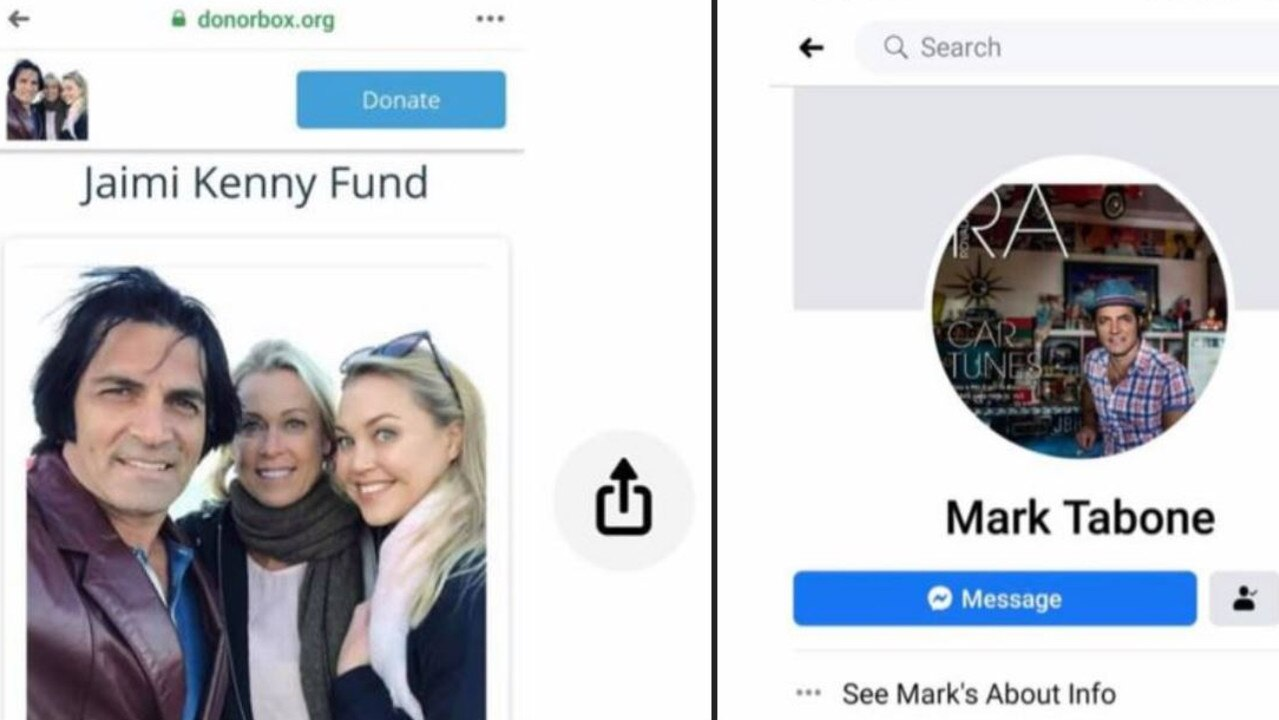 The fake fundraiser and Facebook page.