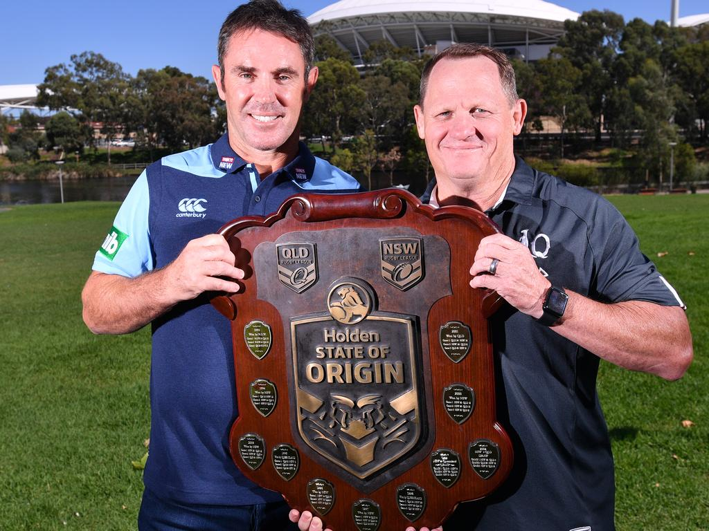 NSW Blues coach Brad Fittler and Maroons Coach Kevin Walters.