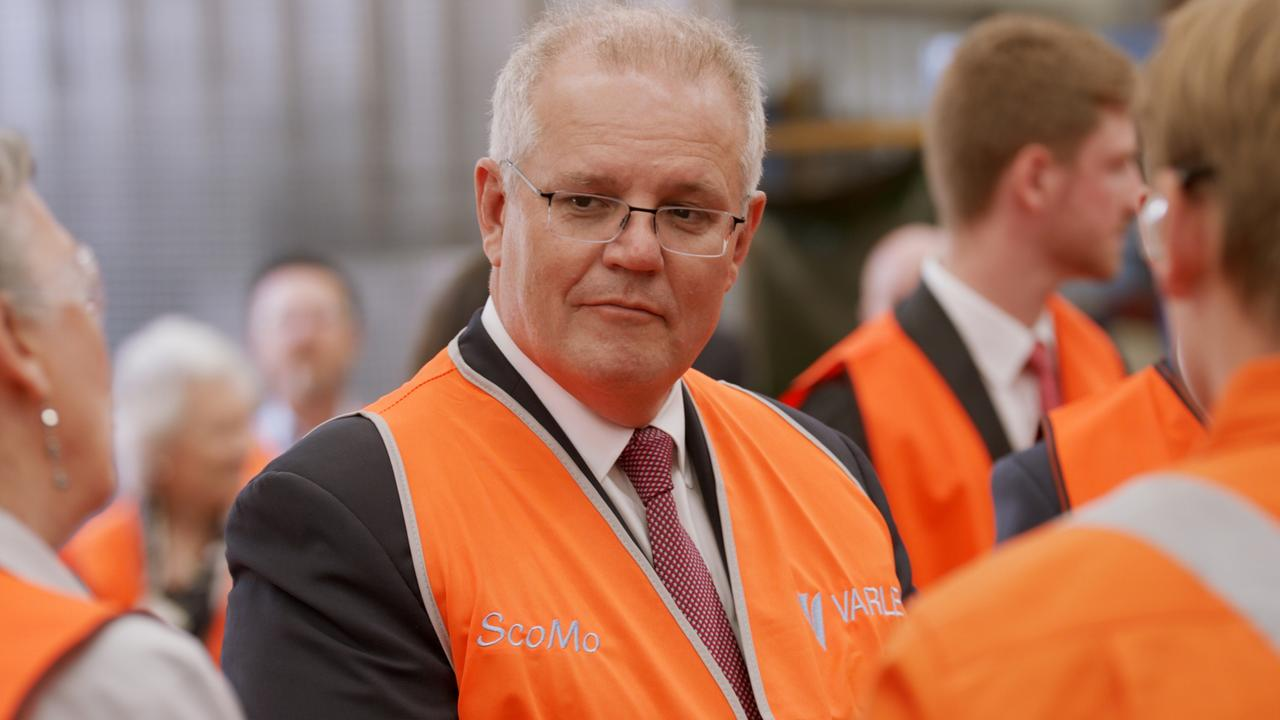 Prime Minister Scott Morrison toured the Varley Group engineering and manufacturing company in Tomago. Picture: NCA NewsWire / Joel Black