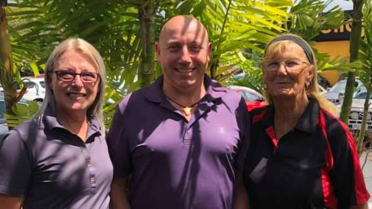 Tiger Woods Stableford runners-up Karen Rix and Don Cameron with winner Pam Casey. Aaron Watts was also the winner but is absent from the photo. Photo: Contributed