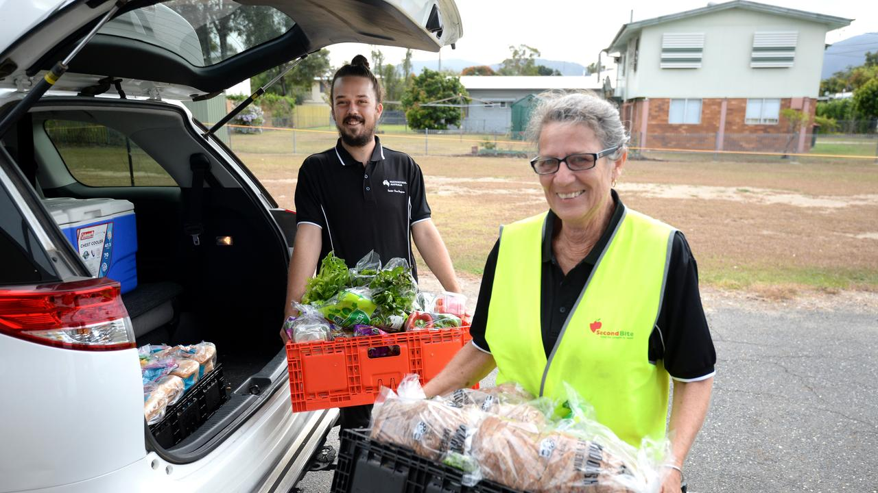 Collecting fresh produce from generous donors is the first step for Tucker Time trainees Dayne Keefe and Clair Vale
