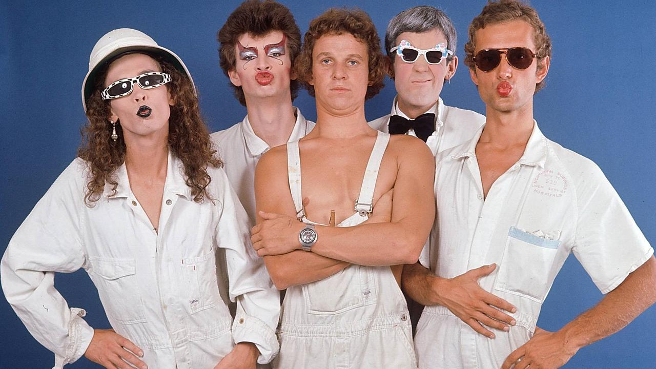 Skyhooks in the 1970s with (from left) Bob 'Bongo' Starkie, Red Symons, Shirley Strachan, Greg Macainsh and Freddy Strauks.