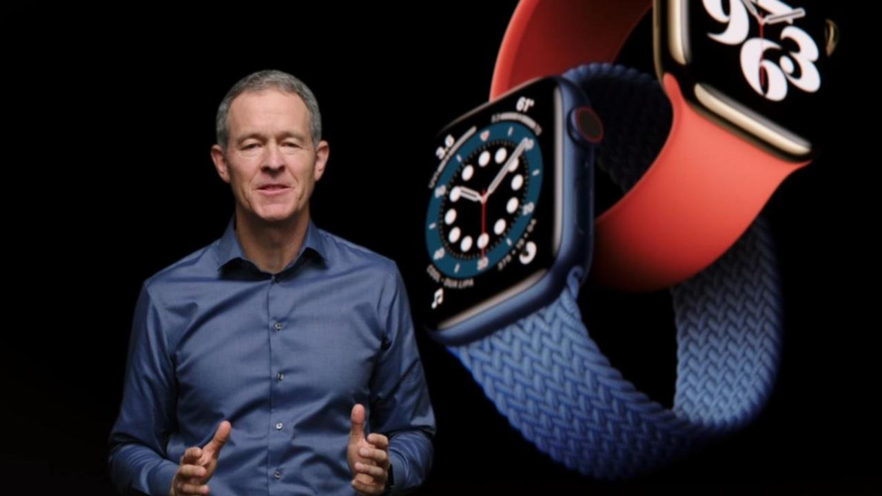 Apple COO Jeff Williams introducing the Apple Watch Series 6.
