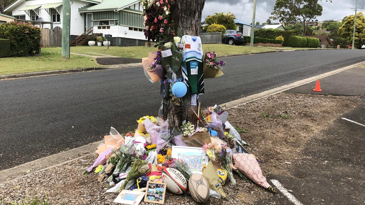 TREE OF LOVE: Tributes to the memory of beloved Lismore boy Edward Allen, 17, who died after his car crashed into a tree on Monday September 14, 2020.