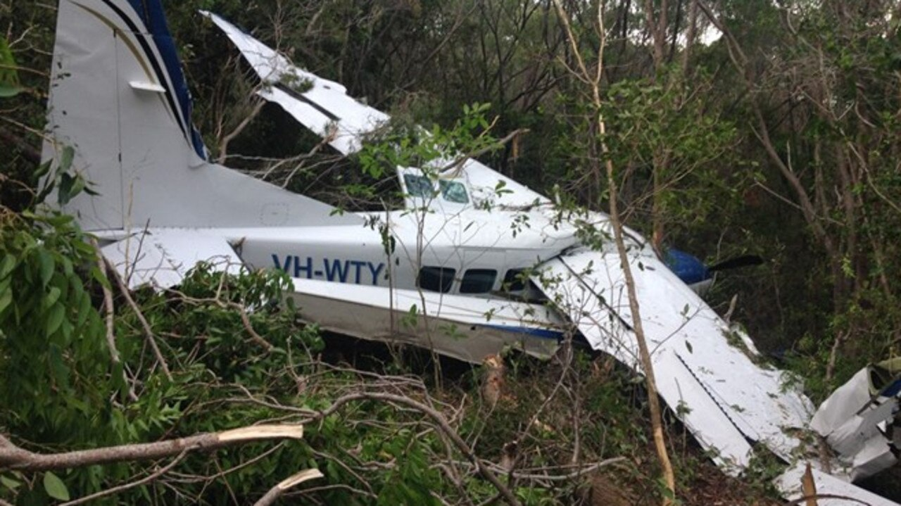 A seaplane crashed into trees at off Chance Bay in the Whitsundays in January 2016.