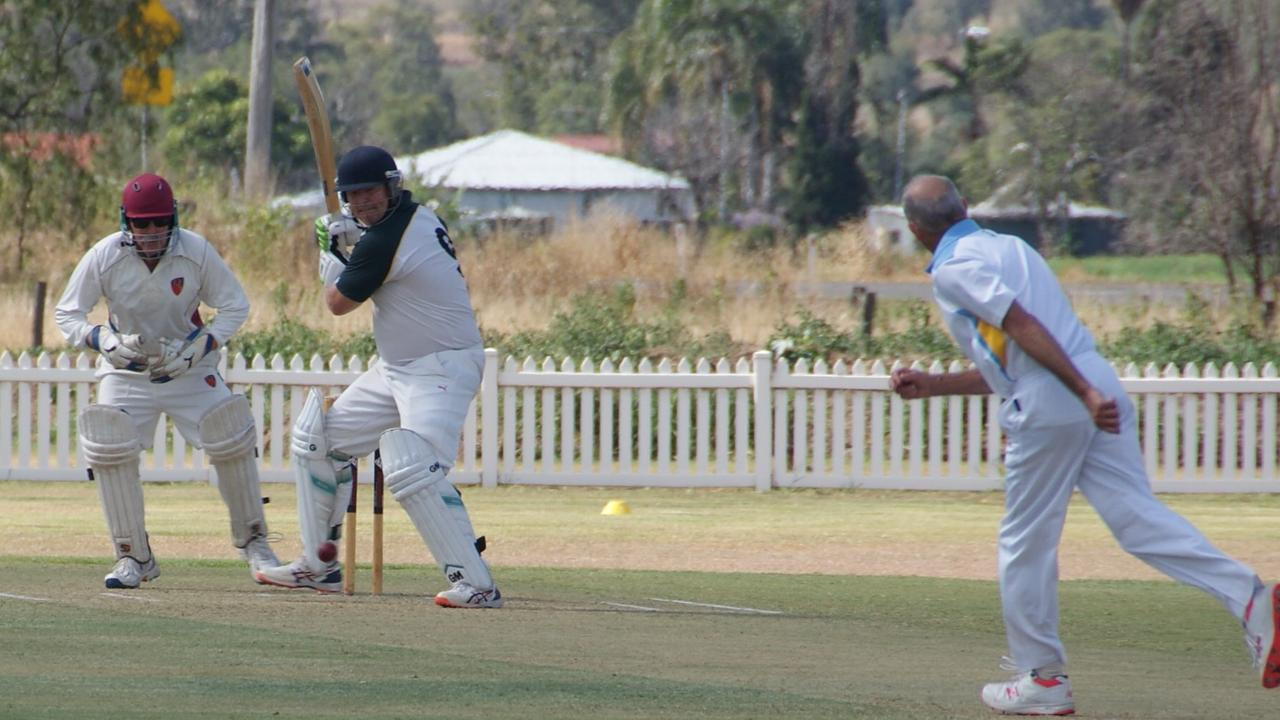 Lockyer/Ipswich cricketer Andrew Walsh in attacking form, leading the way.