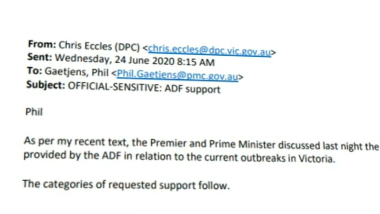 The email suggests ADF support was very much on offer.