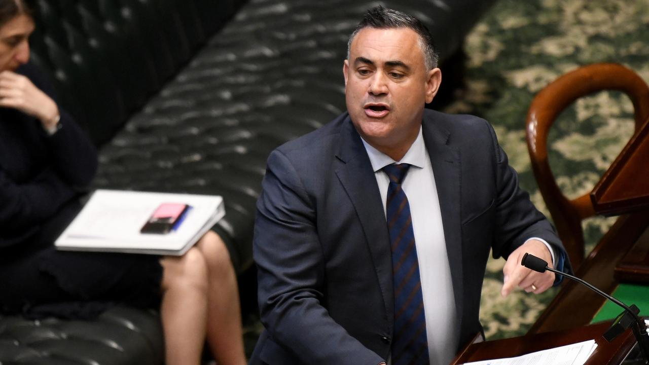 There is some fear within the Liberal party that the Nationals, led by Deputy Premier John Barilaro, will let them down. Picture: NCA NewsWire/Bianca De Marchi