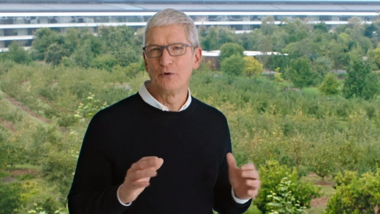 Apple CEO Tim Cook from the Infinite Loop headquarters.