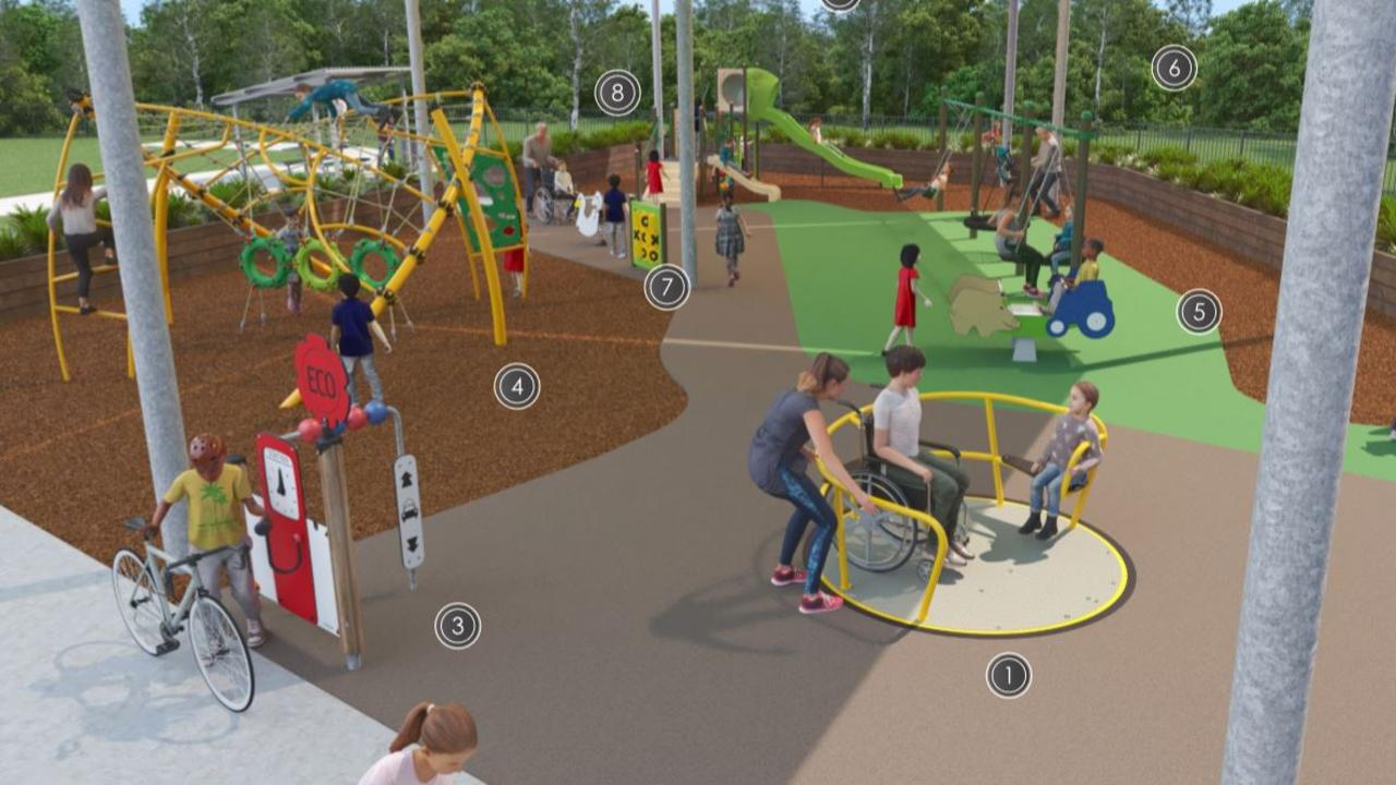 All of the equipment in the park will be wheelchair accessbile. (Picture: contributed)