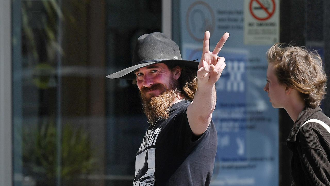 Marcus Anthony Burke outside the Brisbane Magistrates Court. Picture: NCA NewWire/Dan Peled