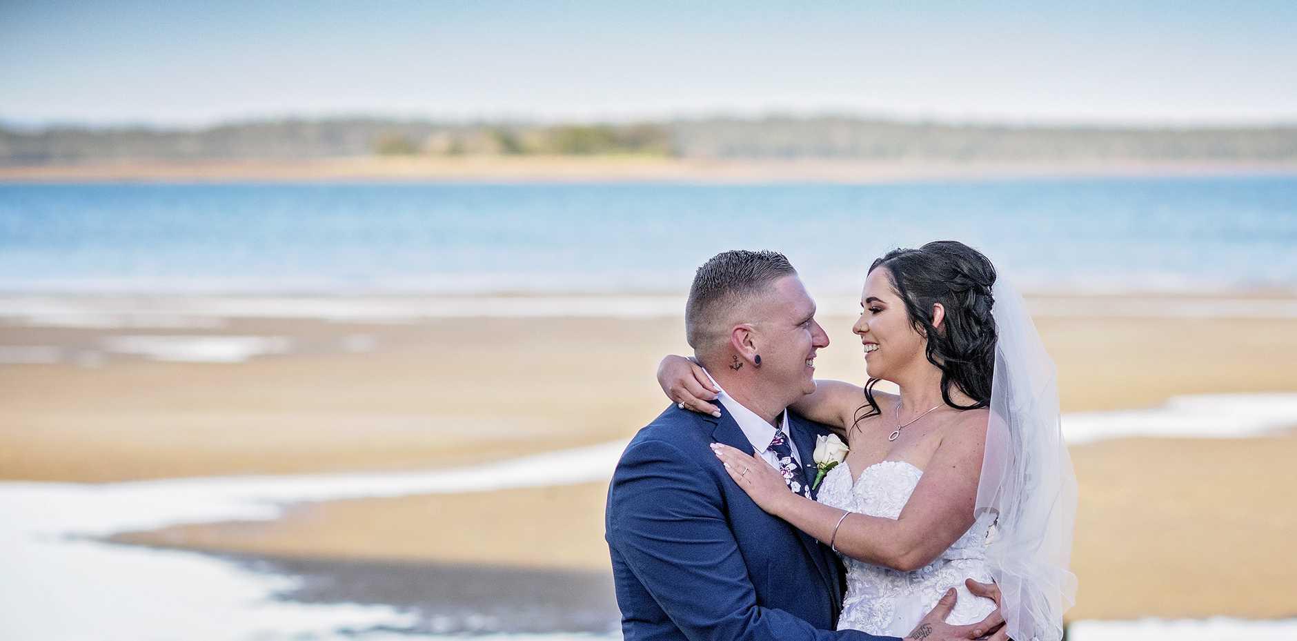 Cassie Simpson wed her husband Josh on August 22 in Hervey Bay.
