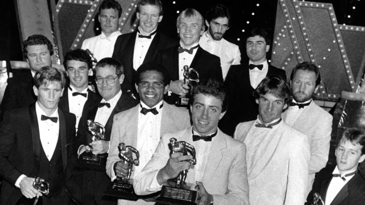 Greg Alexander (front) wasthe 1985 Dally M Medal winner.