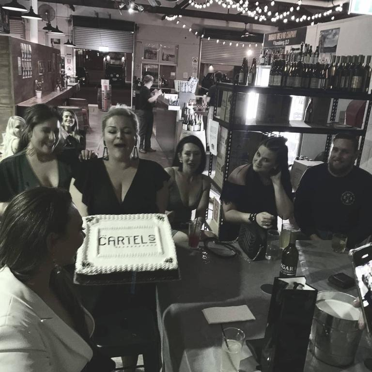 BARBERSHOP BIRTHDAY: The Cartel's Barbershop has celebrated one year in business and the team dressed up for a night on the town to celebrate. Source: The Cartel's Barbershop