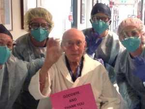 100-year-old man beats COVID
