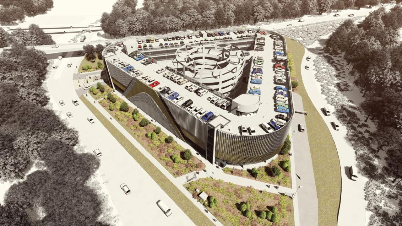 Artist's impressions of the Springfield Park n Ride.