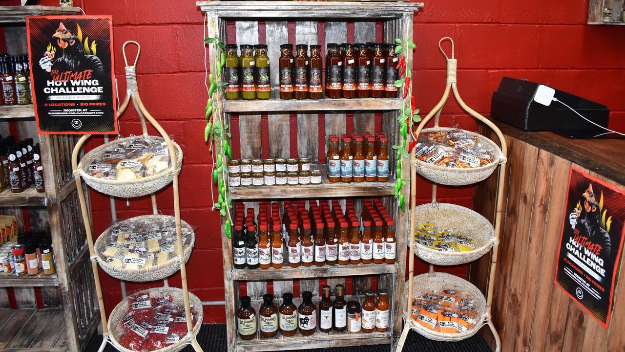 SUGAR AND SPICE: Stocking sauces for all occassions, as well as chilli infused candy, sorbet and coffee, products cater to all tastebuds. Picture: Rhylea Millar