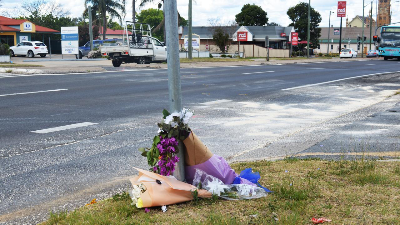 POIGNANT: A makeshift memorial at the scene of Monday's horror crash is a haunting warning for road users to practice caution.