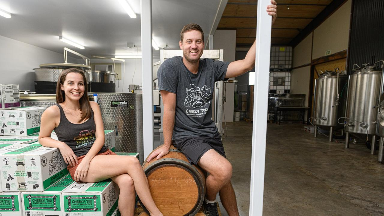 SWEET DREAMS: Ohana's Zoe Young and Josh Phillips have teamed up with Turallo Wine Distributors, offering their refreshing range of ciders to NSW consumers. Picture: Paul Beutel/Bundaberg Tourism.