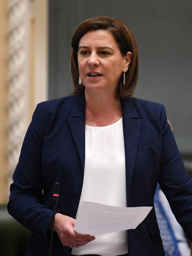 Queensland Leader of the Opposition Deb Frecklington speaks during Question Time at Parliament House in Brisbane. Photo: NCA NewsWire / Dan Peled