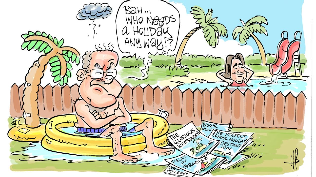 Harry Bruce's take on holiday vacancy rates in the Whitsundays. Today's Harry Bruce cartoon has been brought to you by Dawson MP George Christensen. George is a proud supporter of free speech and the ability of our cartoonists to take the mickey out of the political class.