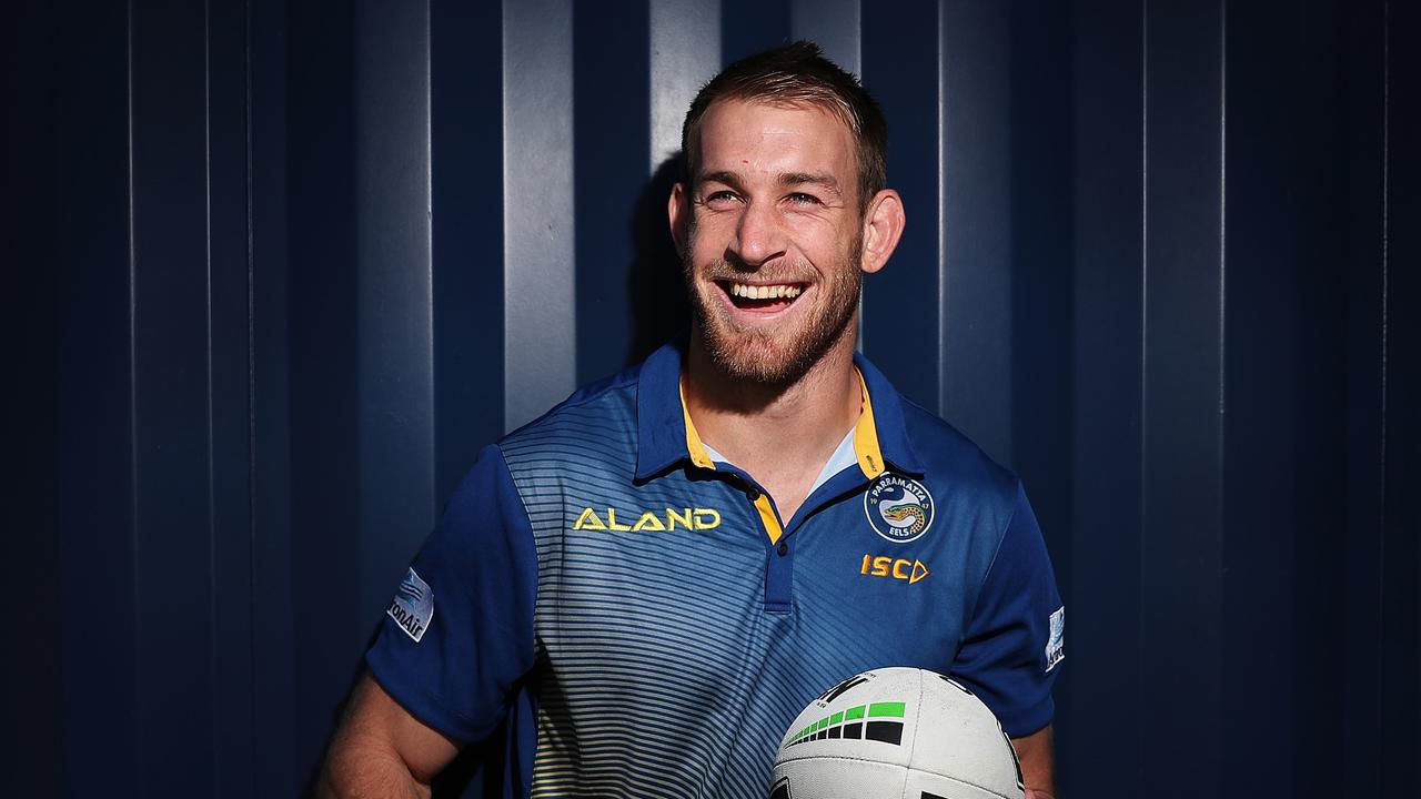 No one was happier than Parramatta player Andrew Davey when he got his NRL call-up. Pic: Brett Costello