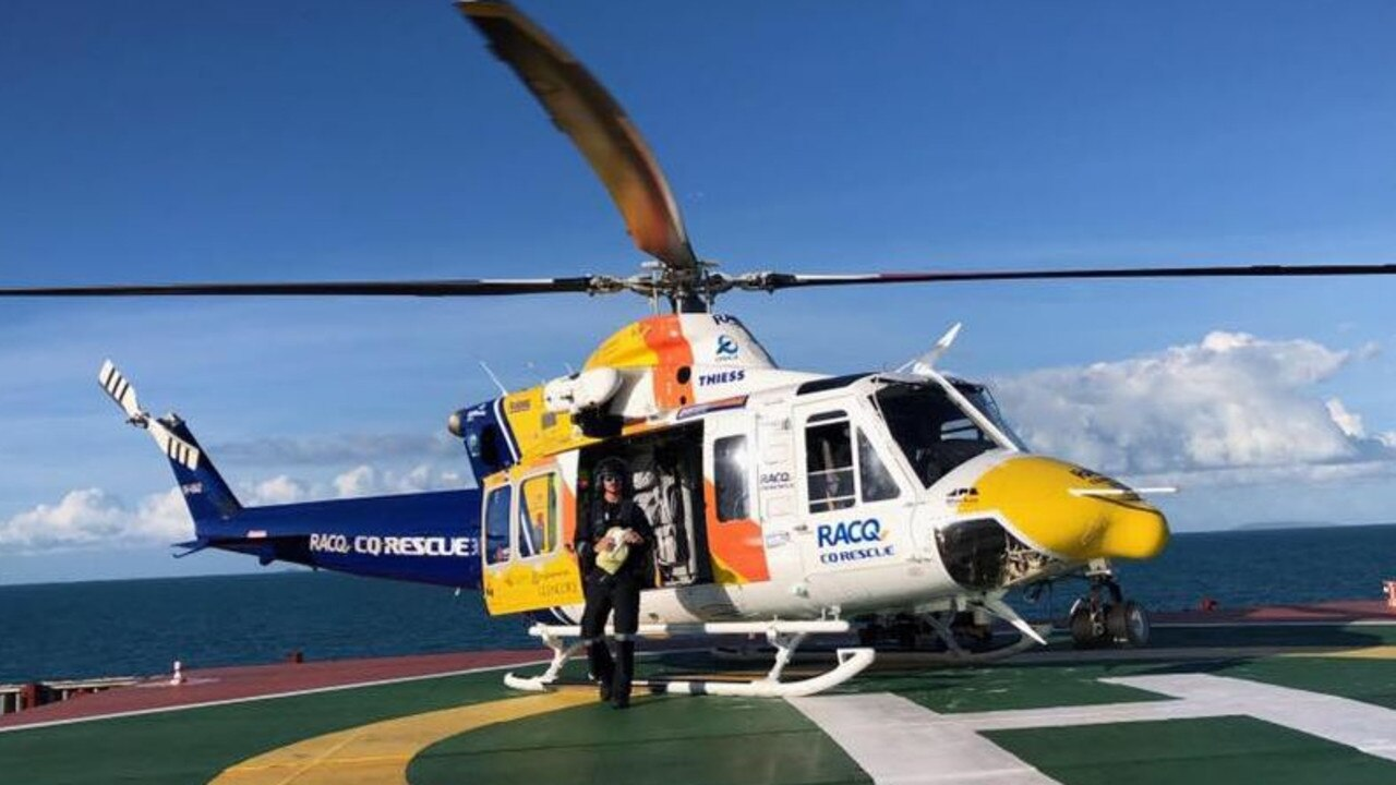 The RACQ CQ Rescue helicopter. Picture: Supplied