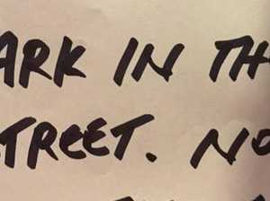 Fury over pompous note left on car