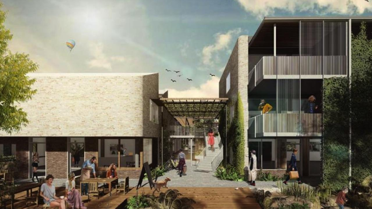 An artist's impression of the view from Easy Street in Stage 4 of Habitat in Byron Bay.