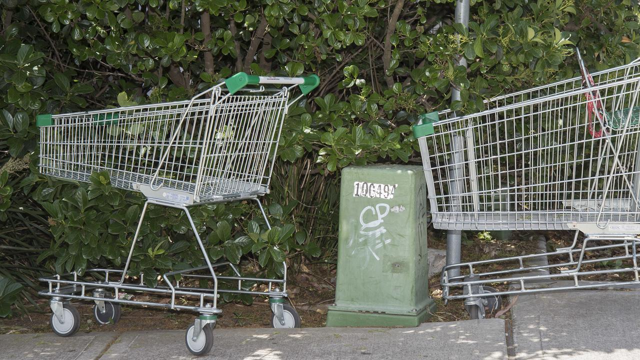 Dumped shopping trolleys can often by spotted around Gympie. AAP IMAGE / Troy Snook)
