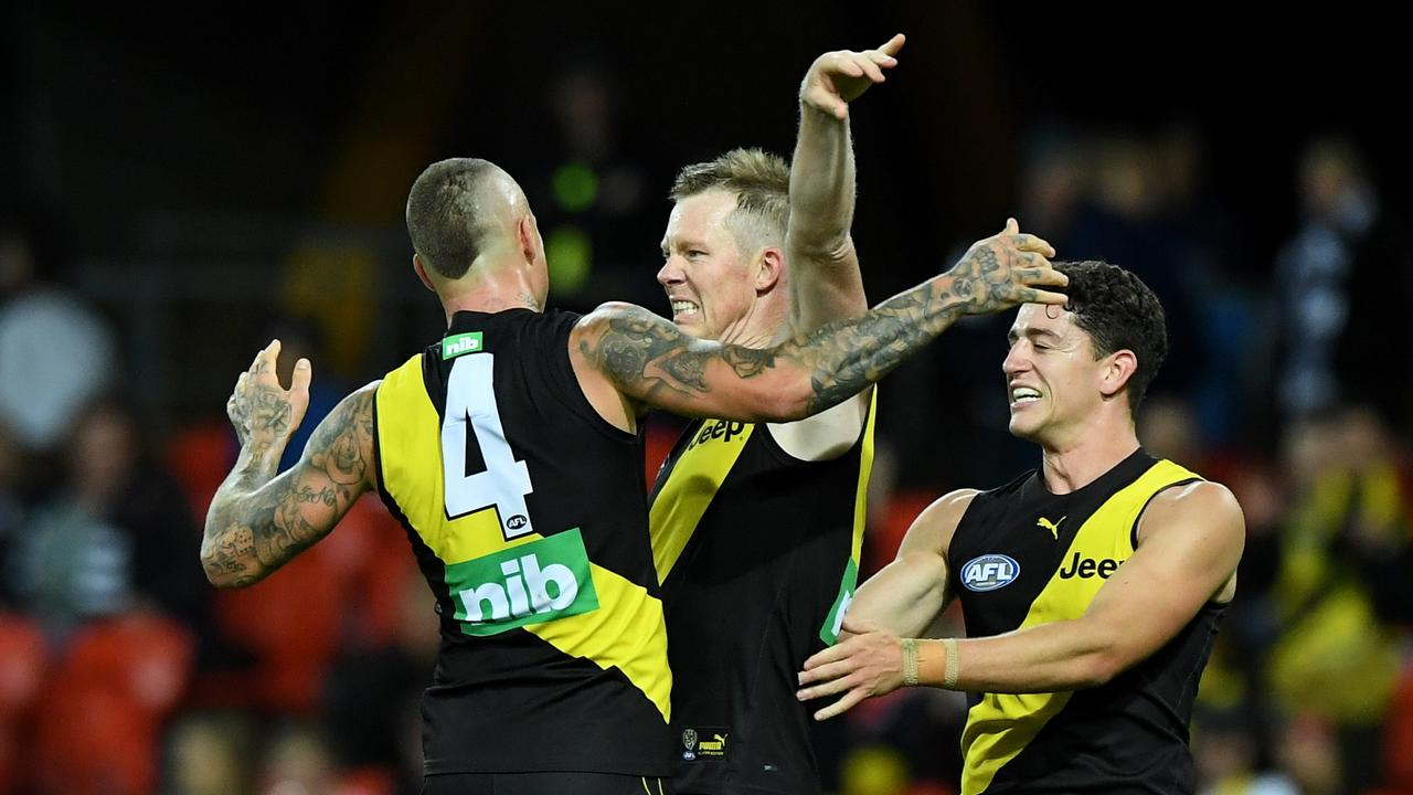 Jack Riewoldt found playing in front of emptystands hard to adjust to.
