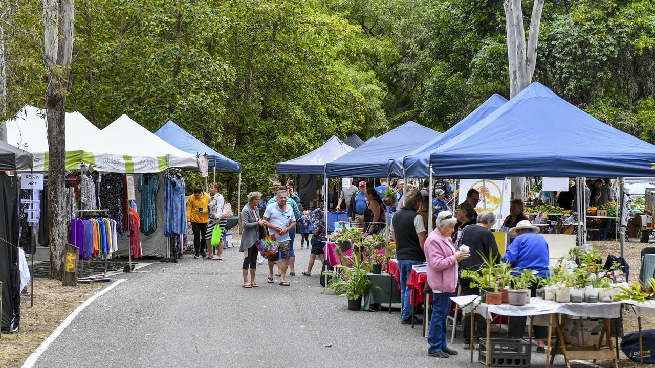 The Rotary Charity Markets held at Tondoon Botanic Gardens, Gladstone.