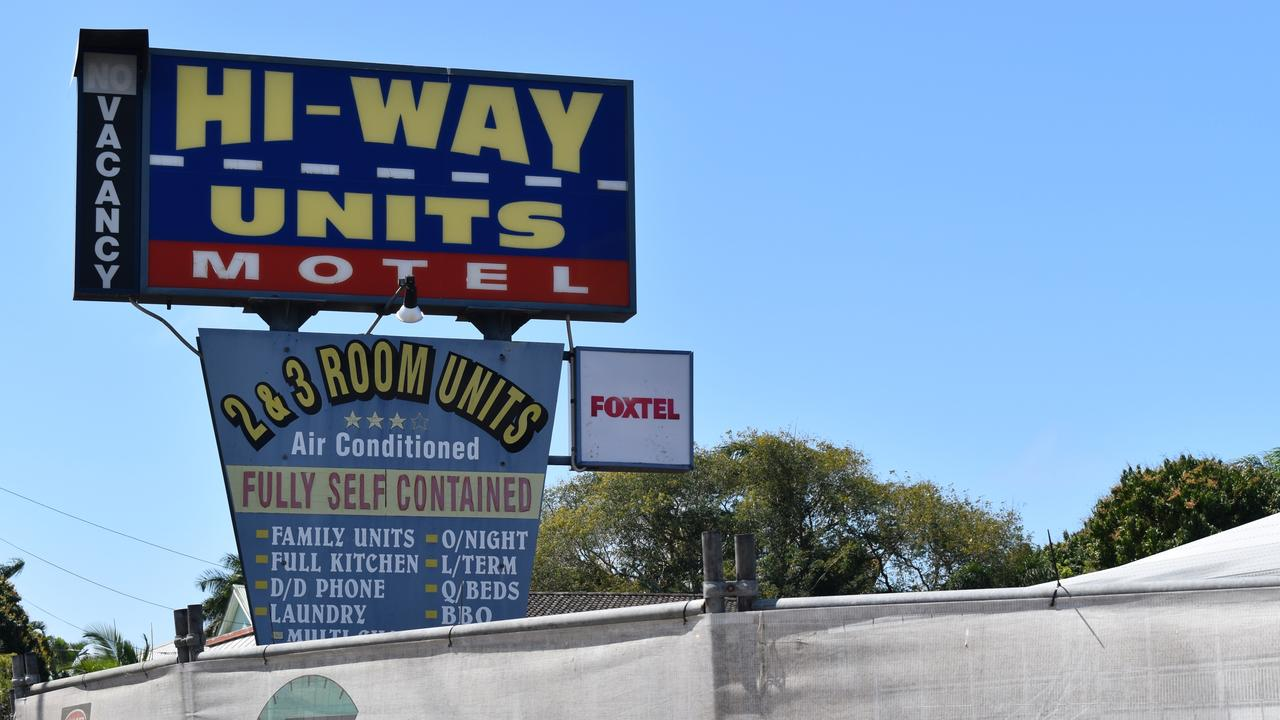 The front of the Hi-Way Units Motel along Nebo Rd, Mackay was demolished to make way for an upgrade. Picture: Heidi Petith